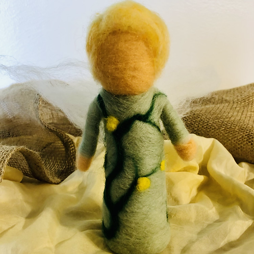 Blonde Short-Haired Needlefelted Doll