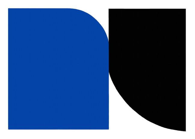 Tangentes azul e preto-60x88cm.-  2020.j