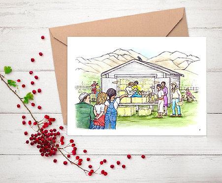 Modern Nativity - Christmas Card 8 pack