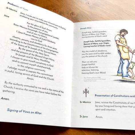 First Profession Booklet