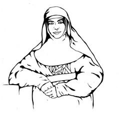 St Mary MacKillop - Pop Art - Outlines progress