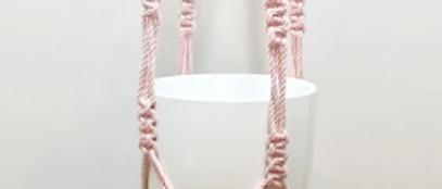 1.5m Dusty Pink Macrame