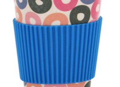 BAMBOO TAKEAWAY CUP  - Blue