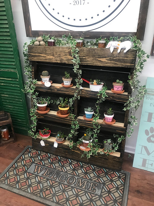 Vertical plant holder w/ shelves