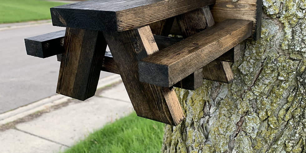 Summer Camp Squirrel picnic table