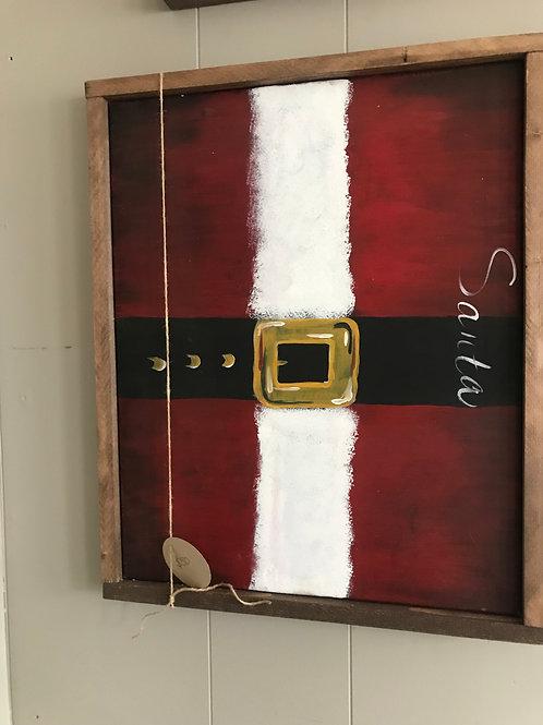 santa belt painting