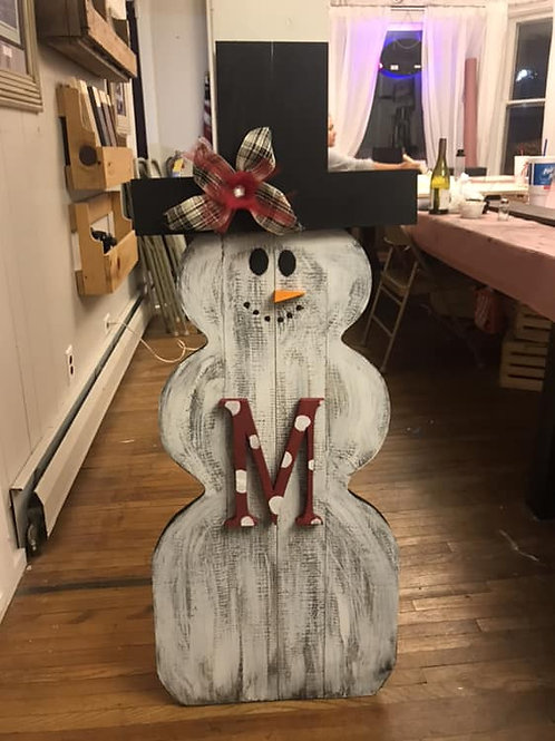 personalized snowman