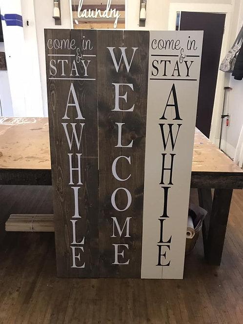 2 sided welcome signs