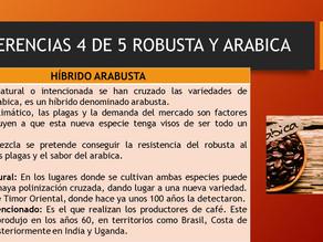 DIFERENCIAS ROBUSTA Y ARABICA 4 DE 5