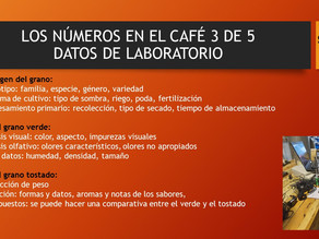 LOS NÚMEROS EN EL CAFÉ 3 DE 5
