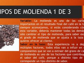 TIPOS DE MOLIENDA 1 DE 3