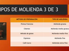 TIPOS DE MOLIENDA 3 DE 3