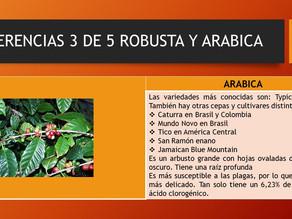 DIFERENCIAS ROBUSTA Y ARABICA 3 DE 5