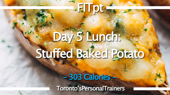 Day 5 Lunch: Stuffed Baked Potato