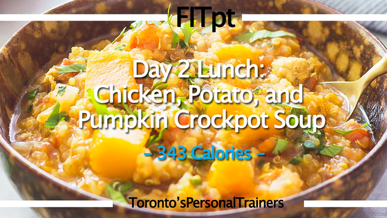 Day 2 Lunch: Chicken, Potato, and Pumpkin Crockpot Soup