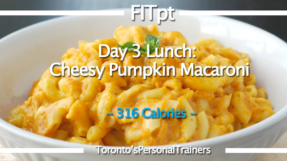 Day 3: Lunch: Cheesy Pumpkin Macaroni