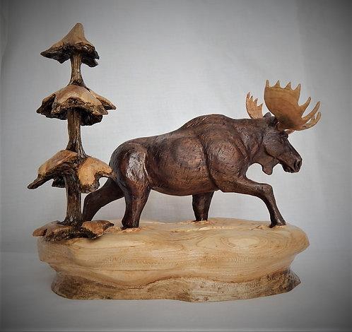 """""""Deep Snow Drifter"""" (Moose)"""