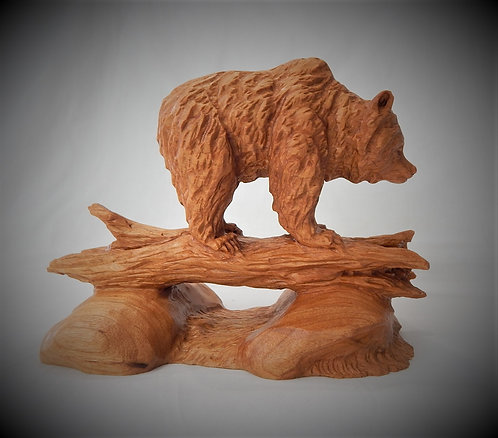 """""""Grizzly On A Log"""""""