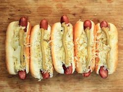 Hot Dogs with Benino Sauerkraut
