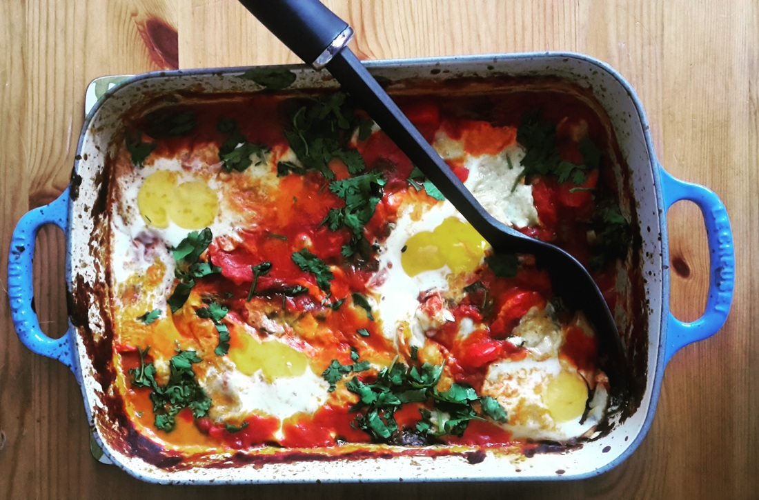 Baked Eggs with Benino Hot Ajvar