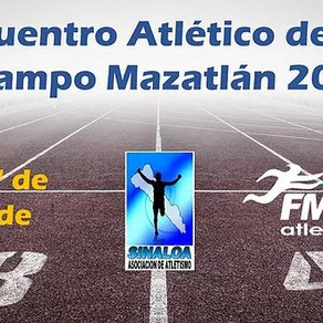 Listados de Salida del V Encuentro Atlético de Pista y Campo Mazatlán 2021