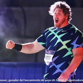 Crouser rompe el récord de impulso de bala en Zagreb, Croacia con 22.74m