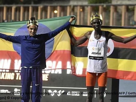 Récords mundiales ratificados en 5,000m de Gidey y 10,000m de Cheptegei
