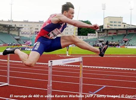 Karsten Warholm, dos veces campeón mundial en 400m c/v competirá en Ostrava este 8 de septiembre