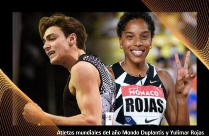 Duplantis y Rojas nombrados Atletas Mundiales del Año