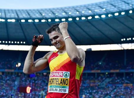 El español Bruno Hortelano; el europeo más rápido en la suma de 100, 200 y 400 metros.