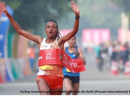 Los campeones defensores en Medio Maratón, Gemechu y Belihu, se enfrentarán con grandes en Delhi