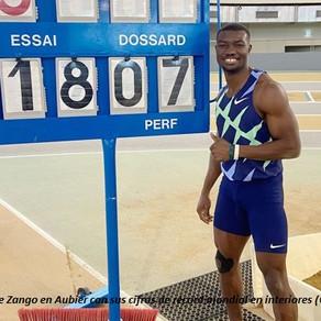 Zango bate el récord mundial de salto triple bajo techo con 18.07m