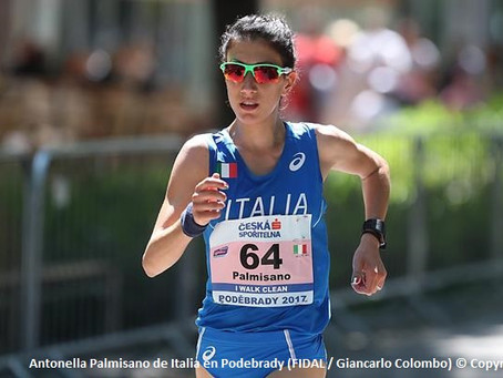 Palmisano rompe  récord italiano en 10km caminata y  Khapilina y Sbaai se imponen en Maratón