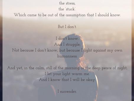 A Poem for Surrender