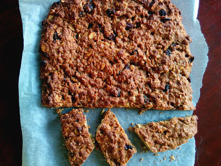 Cranberry Oatmeal Cookie Slab