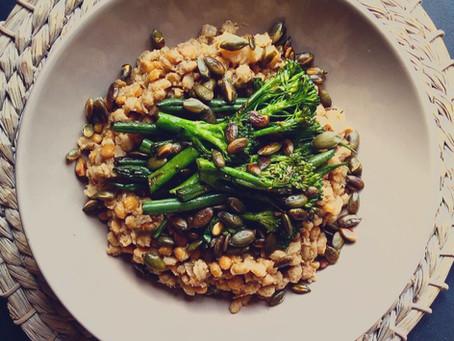 Barley, Split pea & Coconut Casserole