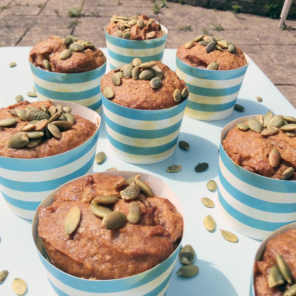 vegan and gluten-free pumpkin muffins
