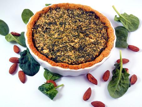 Spinach, Almond & Tofu Tart