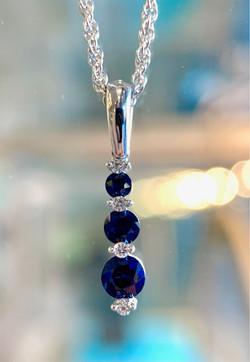 Sapphire journey pendant