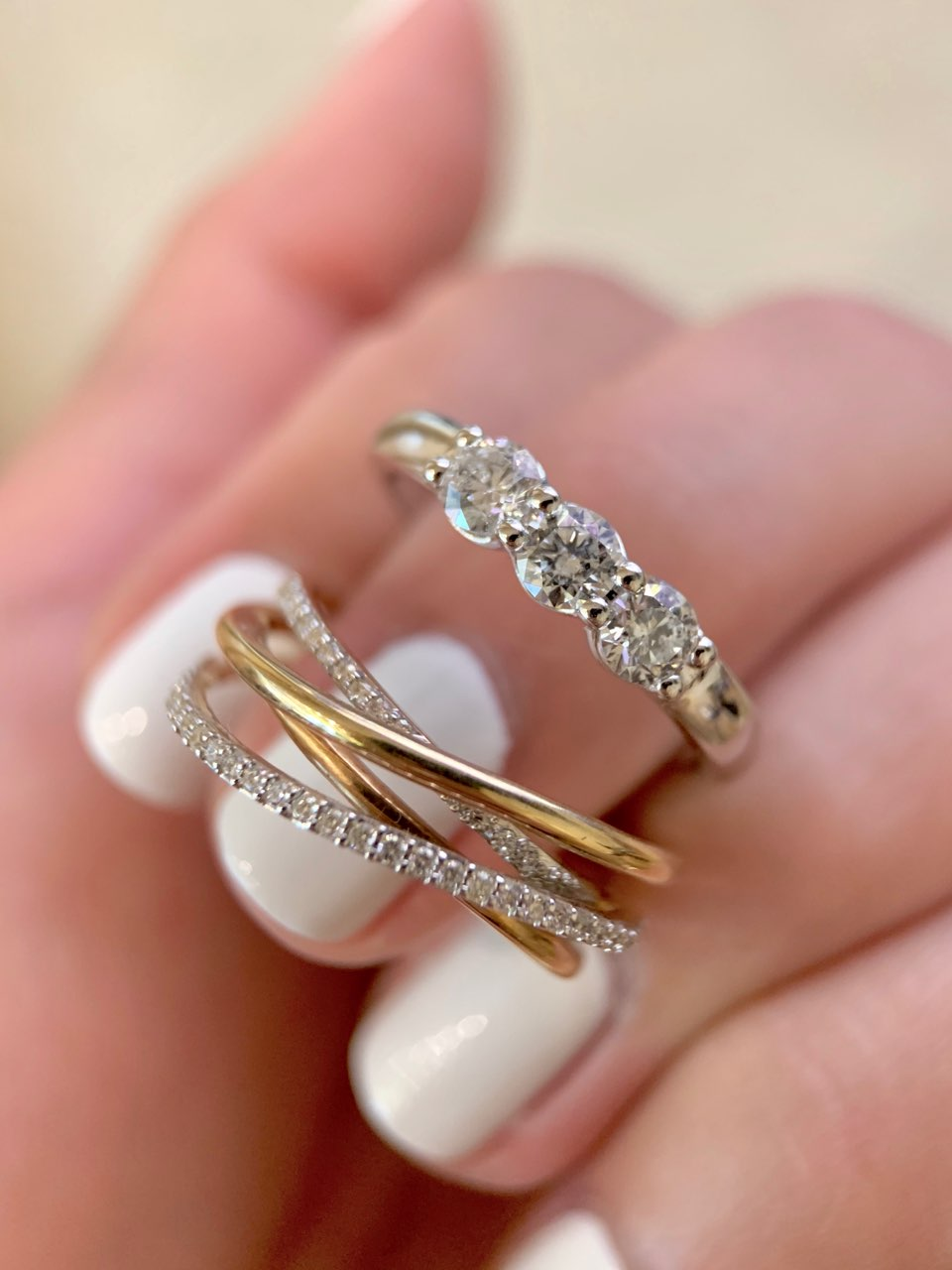 3 Stone Ring & Bypass Ring