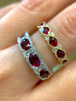 Ruby and Diamond Bands