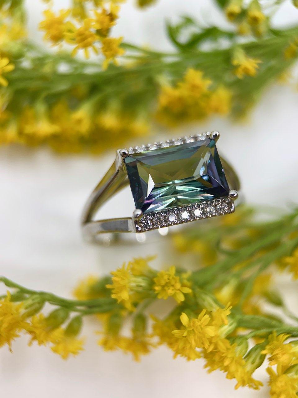 Peacock Tanzanite Ring