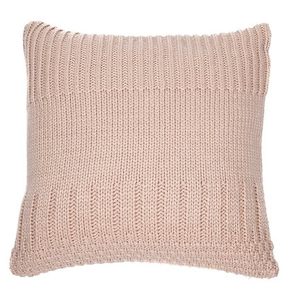 Baba knitted soft pink cushion