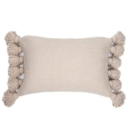Paddington oblong cream chenille cushion