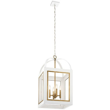 "Vath™ 16"" 4 Light Foyer Pendant White"