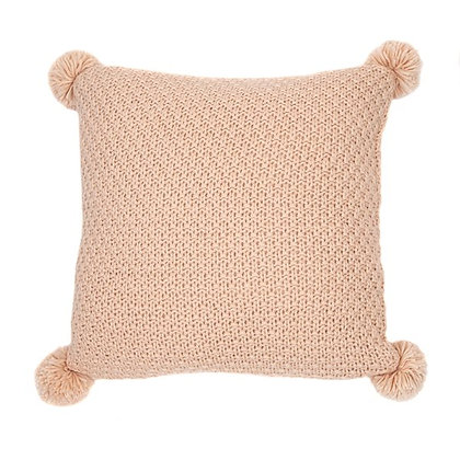 Melon knitted soft pink cushion