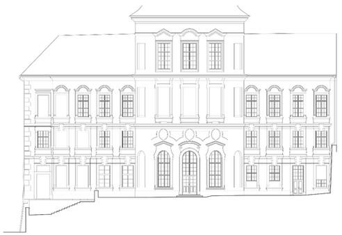 Zahradní fasáda Štemberského paláce