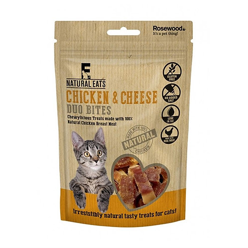 Rosewood Natural Eats Cat Chicken & Cheese Duo Bites