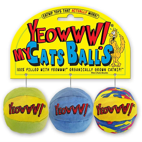 Rosewood Yeowww My Cats Balls Toy