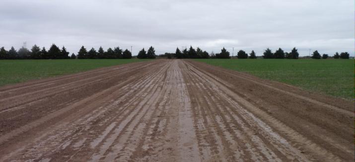 1. Una vez marcado el canal se procede a desplazar el suelo superficial con las herramientas elegidas para la construcción de la obra.